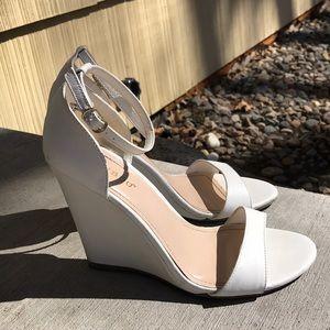 White Wedge Sandals!